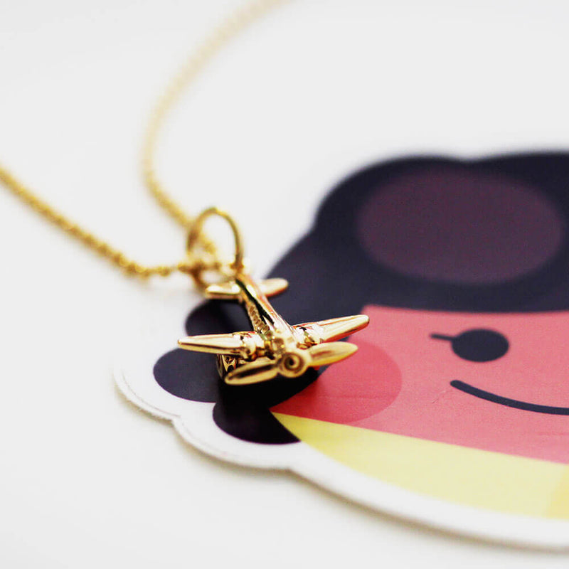 Gold Propeller Airplane Charm - JET SET CANDY
