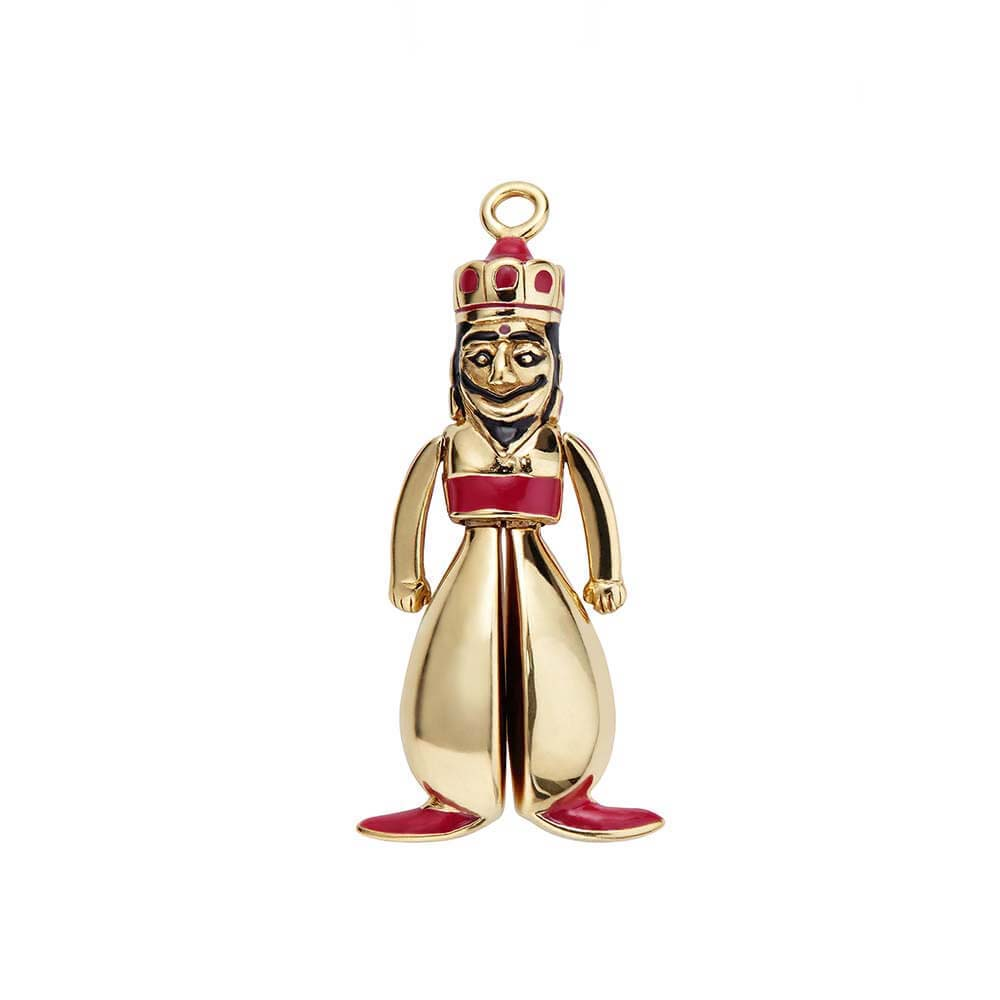 Gold India Charm, Indian Rajasthan Puppet - JET SET CANDY