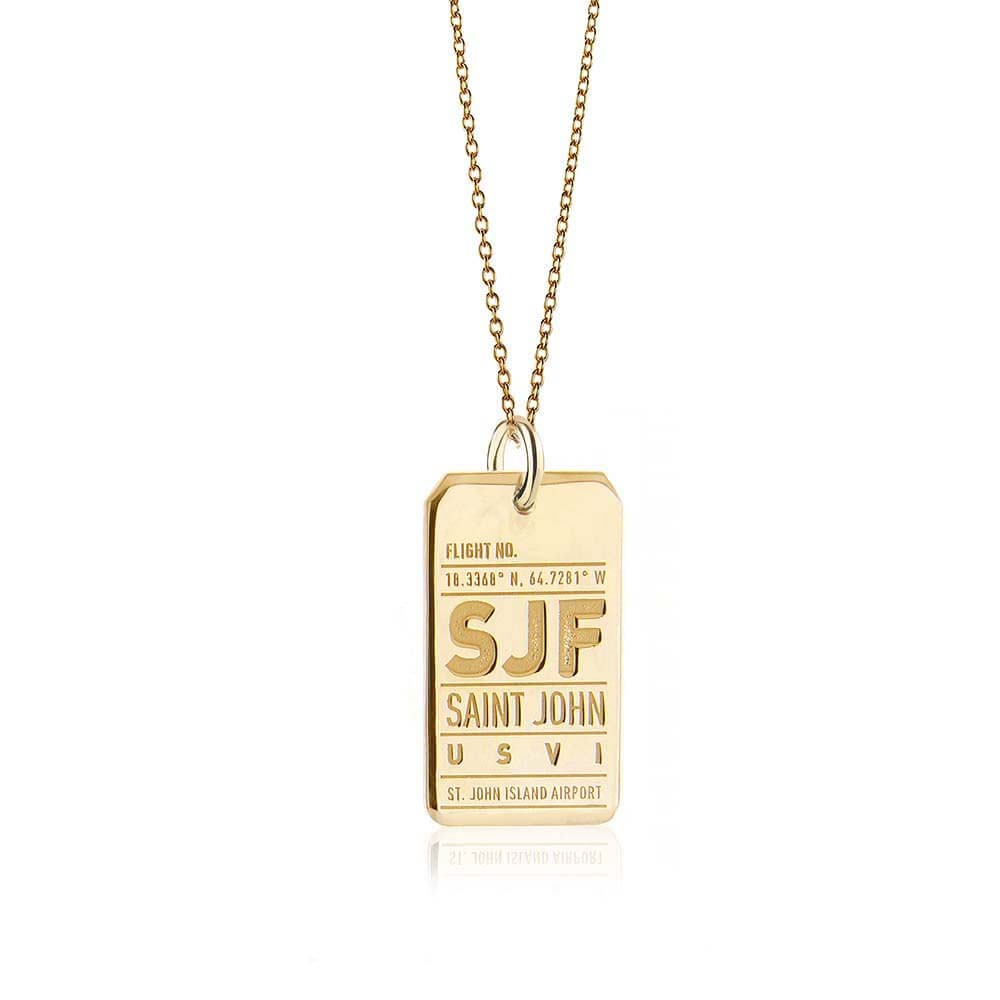 Gold Caribbean Charm, SJF St. John Luggage Tag - JET SET CANDY