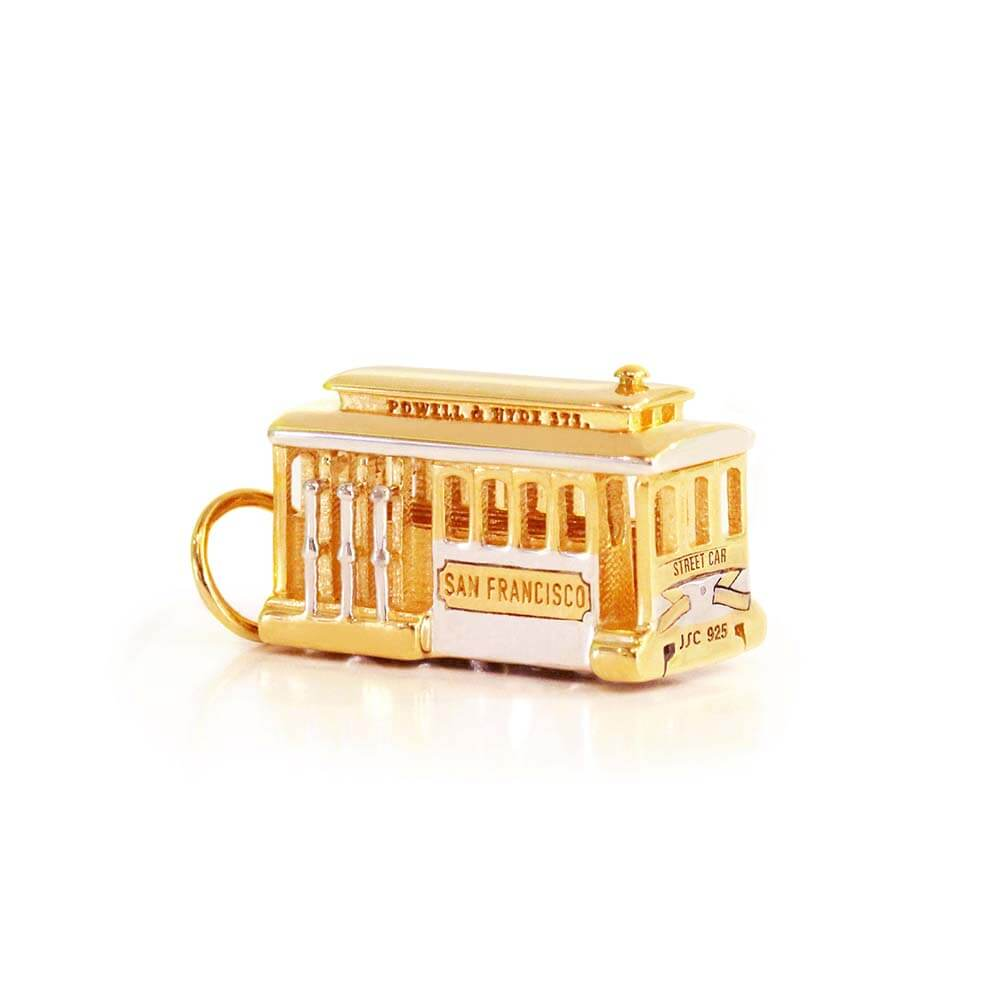Gold San Francisco Trolley Charm - JET SET CANDY