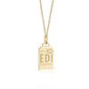 Gold Vermeil Scotland Charm, EDI Edinburgh Luggage Tag - JET SET CANDY