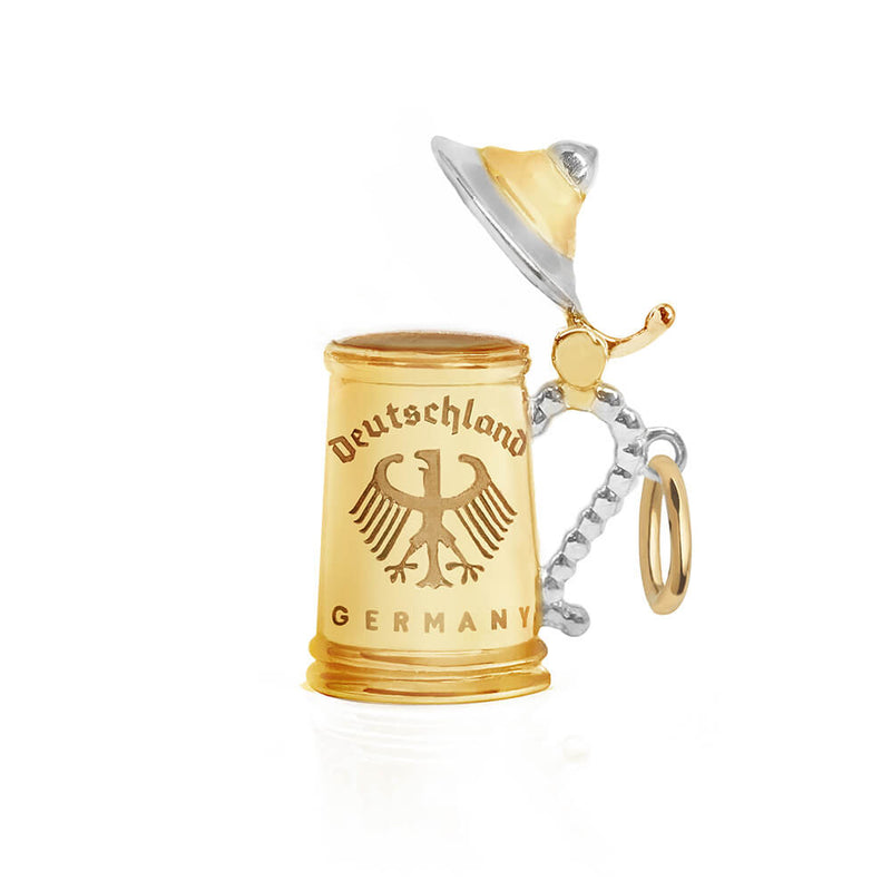 Gold Germany Charm, Beer Stein