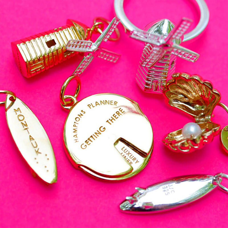 Gold Surfboard Charm, Montauk - JET SET CANDY