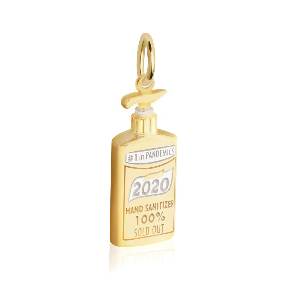 Gold Hand Sanitizer Charm