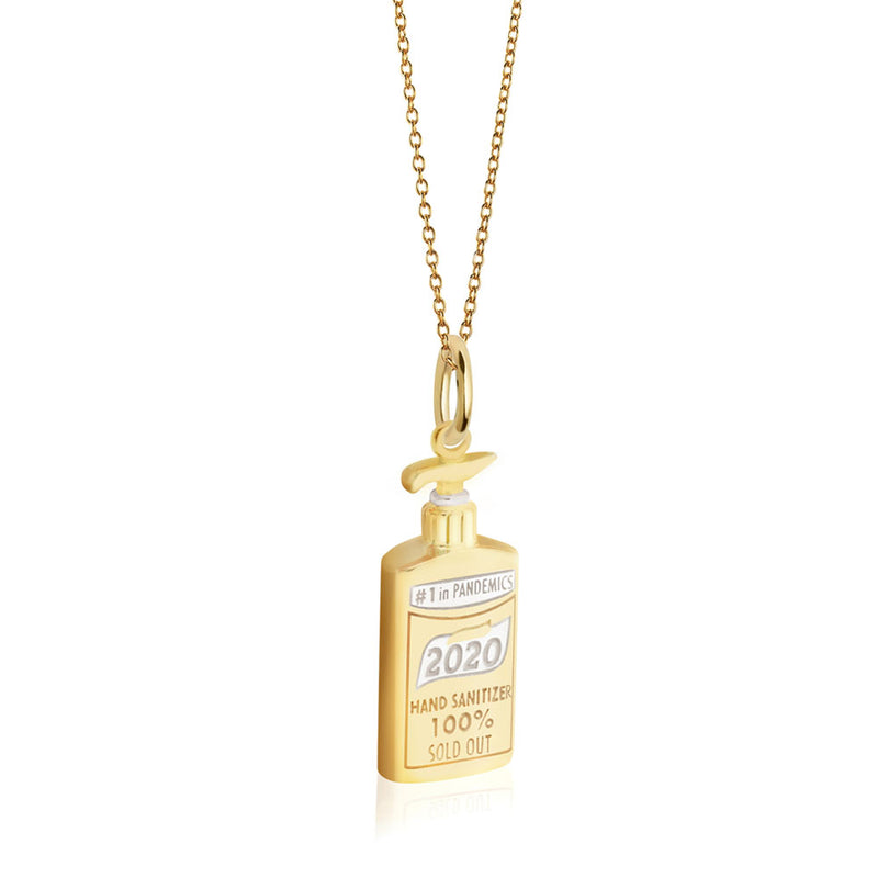 Solid Gold Hand Sanitizer Charm