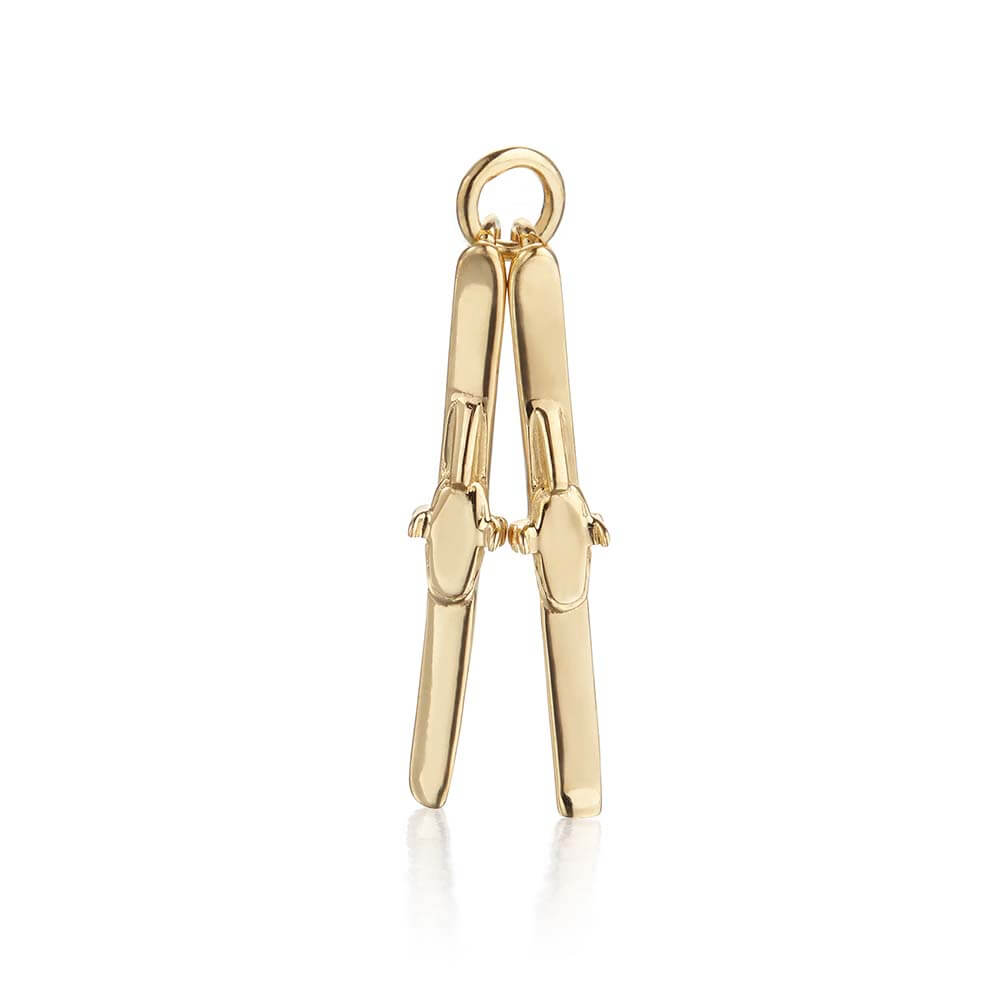 Gold Skis Charm - JET SET CANDY