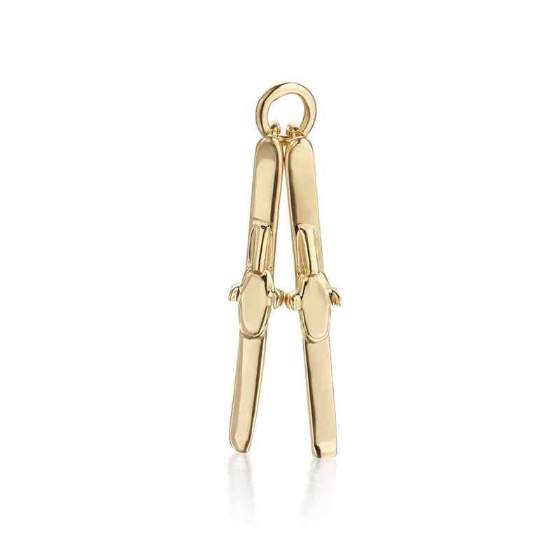 Gold Skis Charm (SHIPS JUNE) - JET SET CANDY