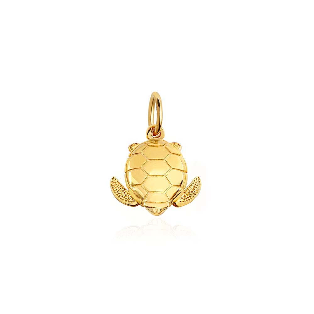 Small Gold Sea Turtle Charm (BACK ORDER-SHIPS LATE FEBRUARY) - JET SET CANDY