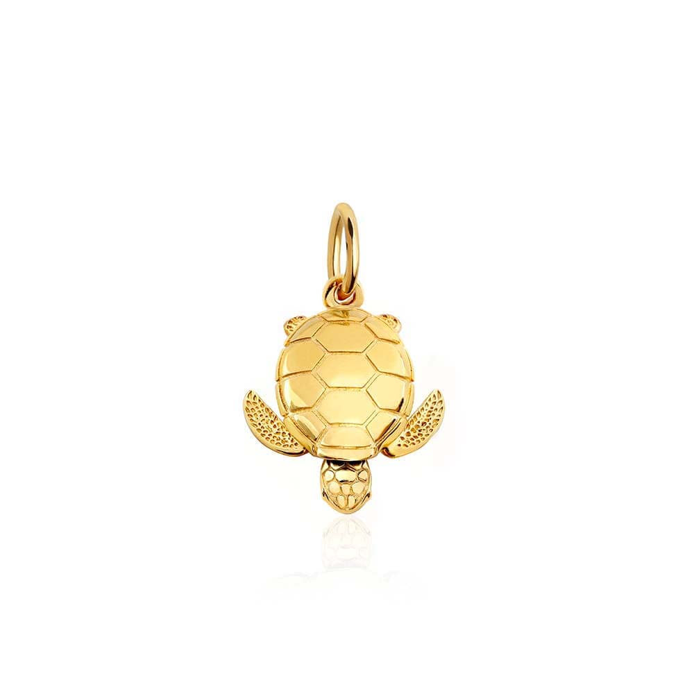 Small Gold Sea Turtle Charm (BACK ORDER-SHIPS EARLY MARCH) - JET SET CANDY