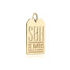 Gold St. Barths Charm, SBH Luggage Tag - JET SET CANDY