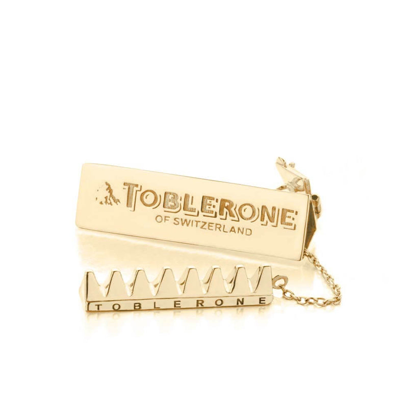Solid Gold Chocolate Charm, Swiss Toblerone - JET SET CANDY
