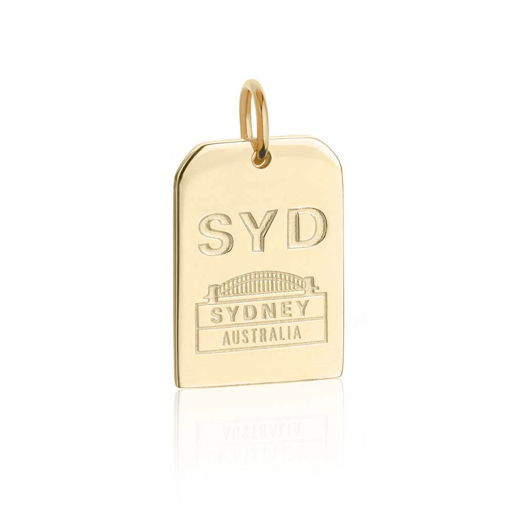 Gold Australia Charm, SYD Sydney Luggage Tag (BACK-ORDER-SHIPS MARCH) - JET SET CANDY