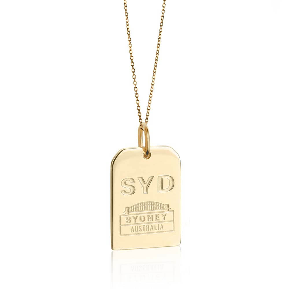 Gold Australia Charm, SYD Sydney Luggage Tag - JET SET CANDY