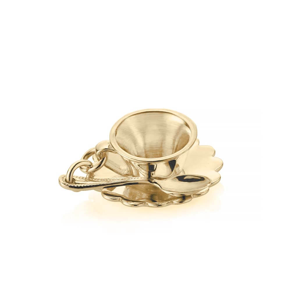 Gold London Charm, Tea Cup - JET SET CANDY