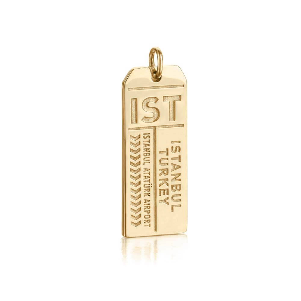 Gold Turkey Charm, IST Istanbul Luggage Tag - JET SET CANDY