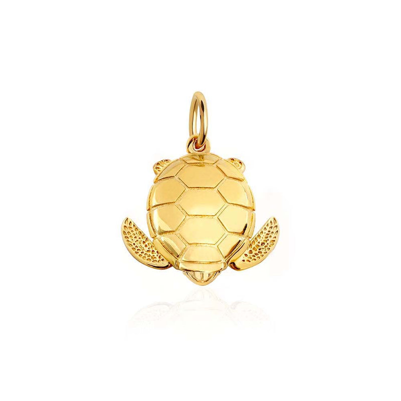 Large Gold Sea Turtle Charm (BACK ORDER-SHIPS MARCH) - JET SET CANDY