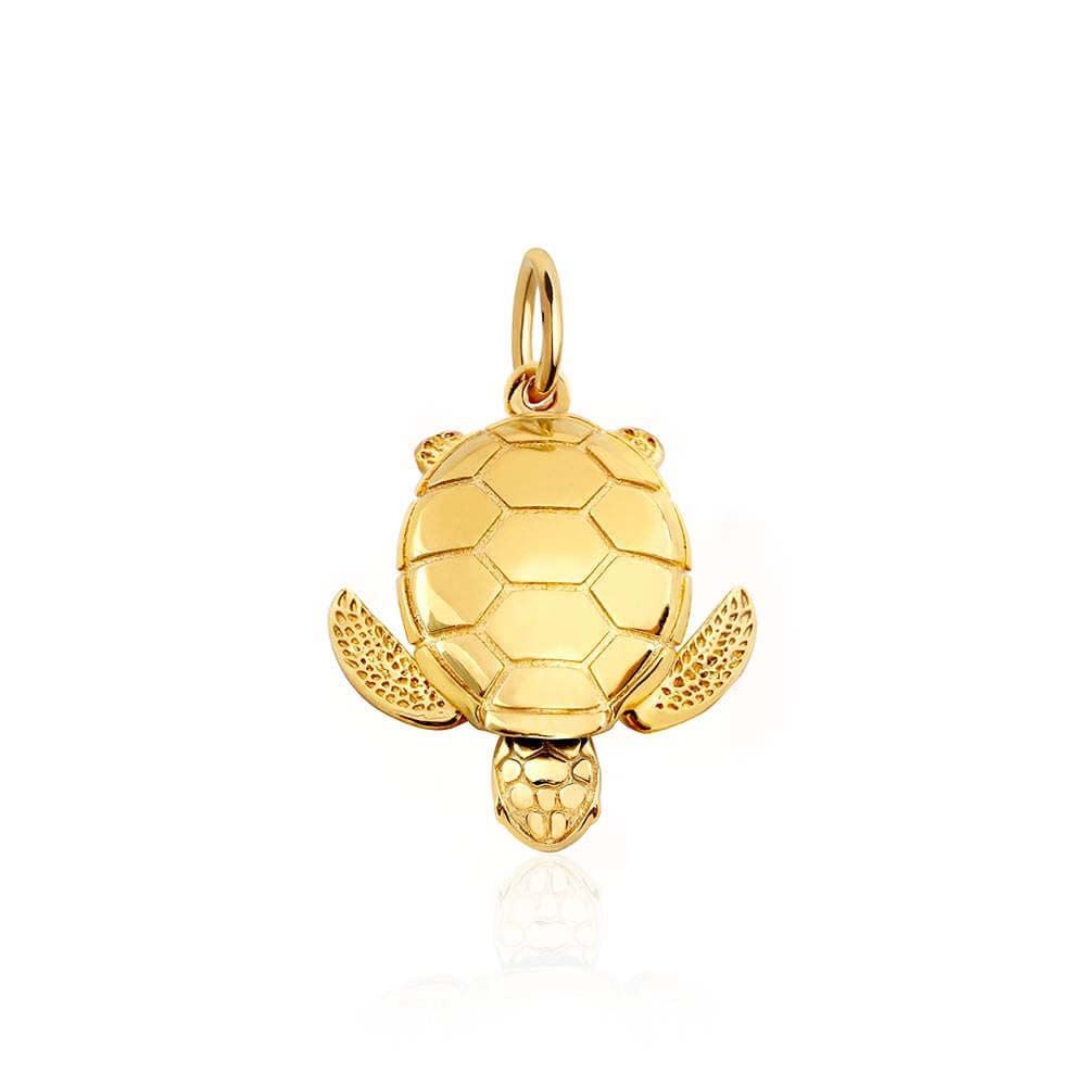 Large Gold Sea Turtle Charm (BACK ORDER-SHIPS LATE FEBRUARY) - JET SET CANDY