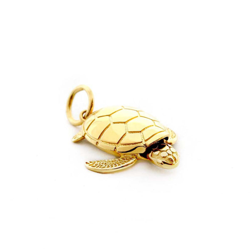 Large Gold Sea Turtle Charm - JET SET CANDY