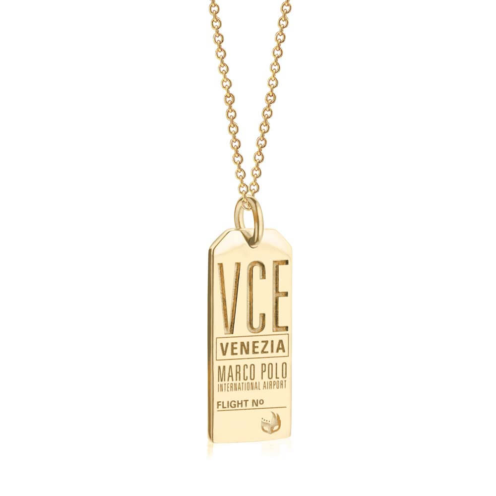 Gold Italy Charm, VCE Venice Luggage Tag - JET SET CANDY