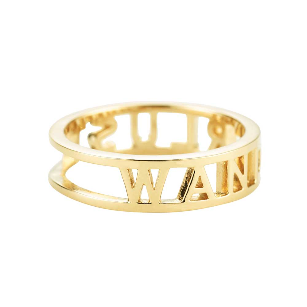 Gold Cutout Travel Ring, Wanderlust - JET SET CANDY