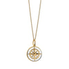 Large Gold White Enamel Compass Charm - JET SET CANDY