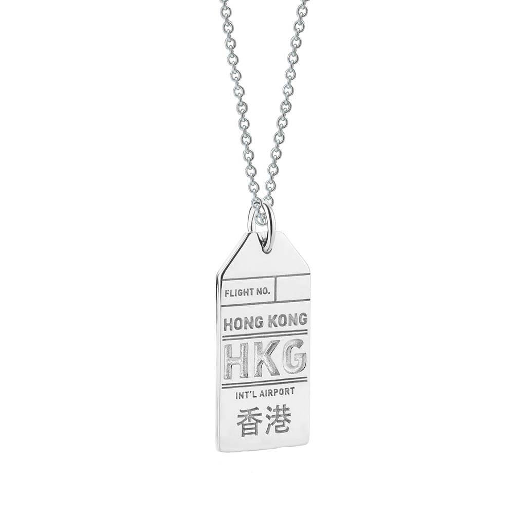 Silver Hong Kong Charm, HKG Luggage Tag - JET SET CANDY