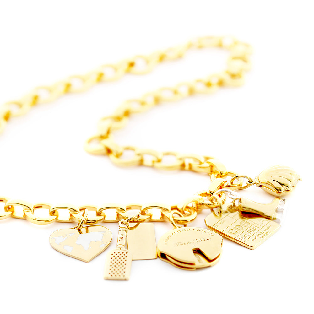 Gold Vermeil Infinity Link Charm Necklace