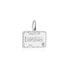 Sterling Silver Travel Charm, Iraq Passport Stamp - JET SET CANDY