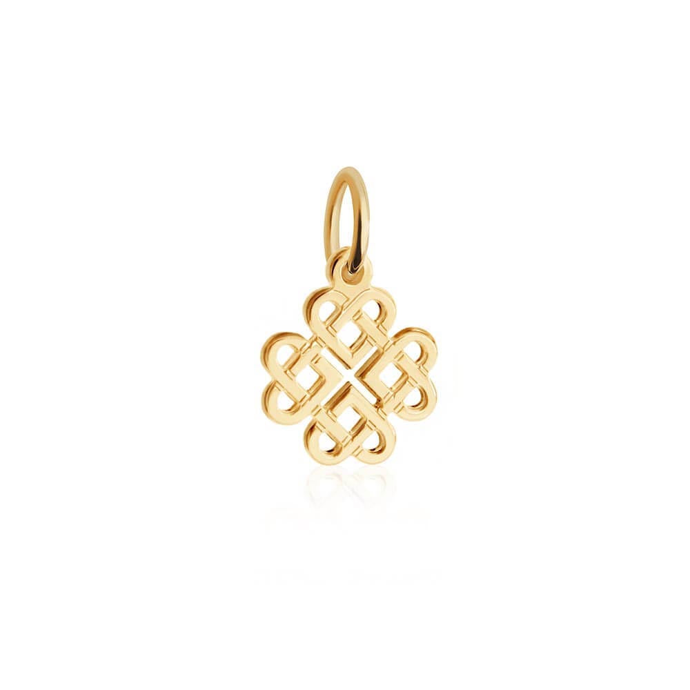 Mini Solid Gold Celtic Knot Charm (SHIPS JUNE) - JET SET CANDY