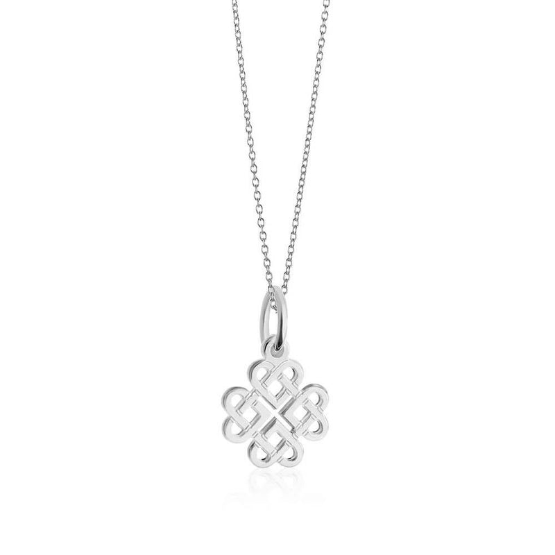 Mini Silver Celtic Knot Charm Necklace (PRE-ORDER-SHIPS JUNE) - JET SET CANDY