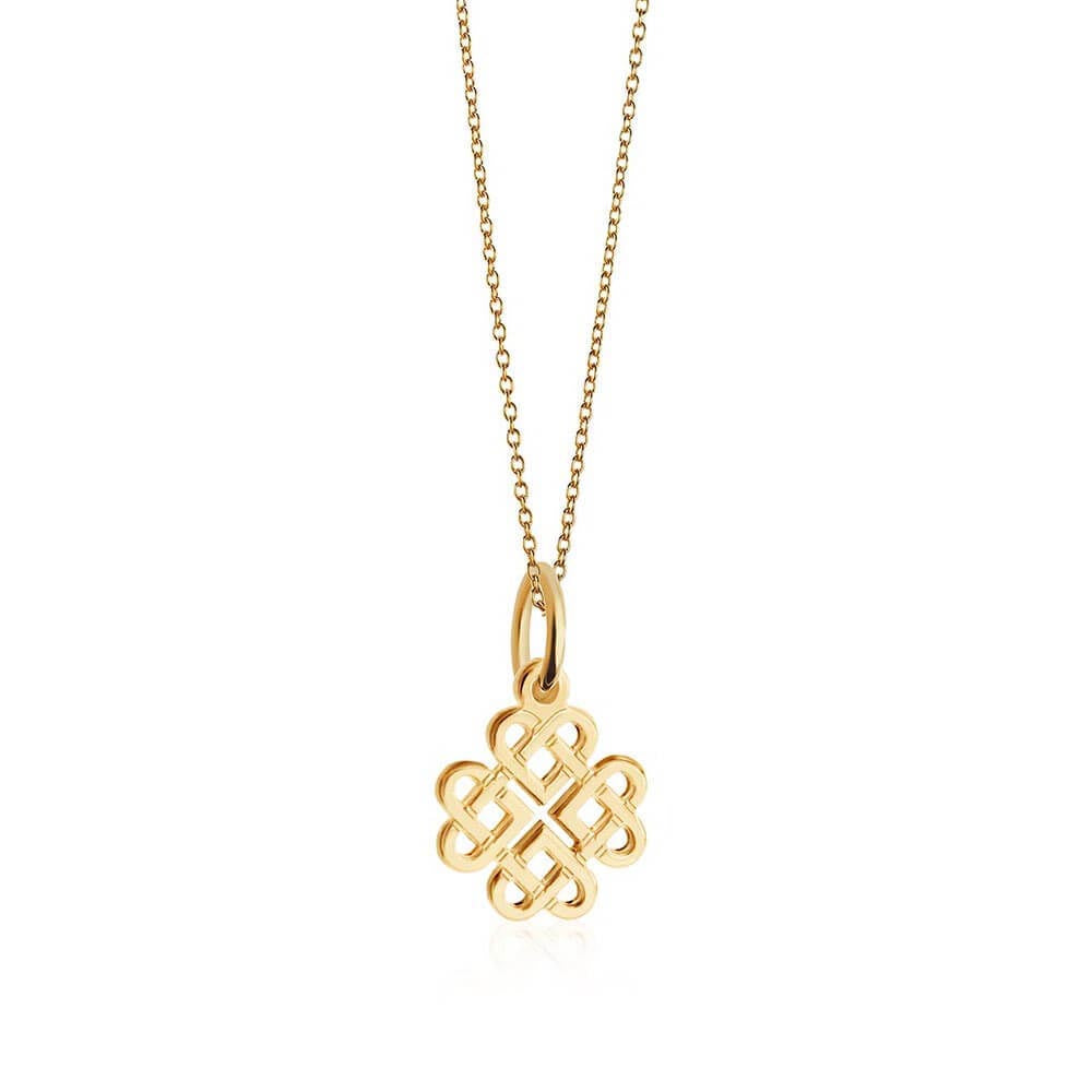 Mini Gold Celtic Knot Charm Necklace (SHIPS JUNE) - JET SET CANDY