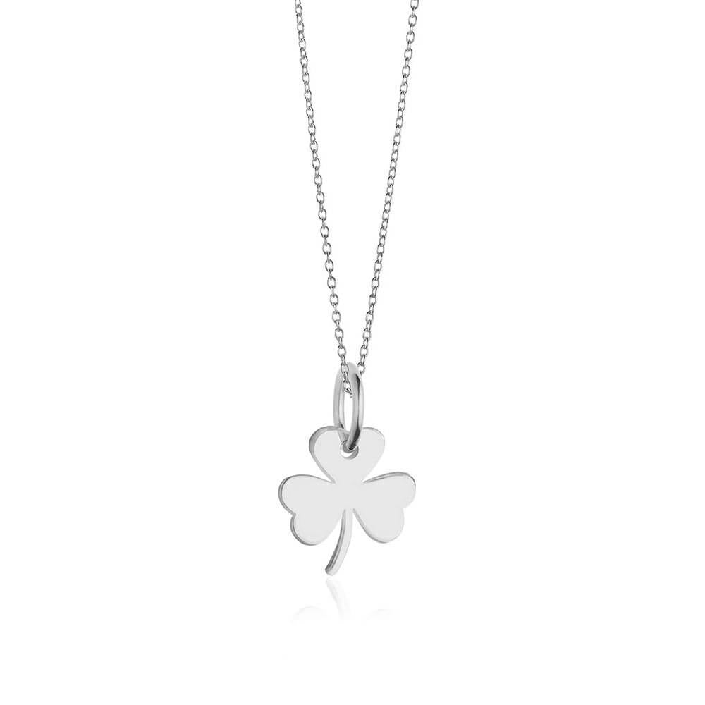 Mini Silver 3 Leaf Clover Charm Necklace (SHIPS JUNE) - JET SET CANDY