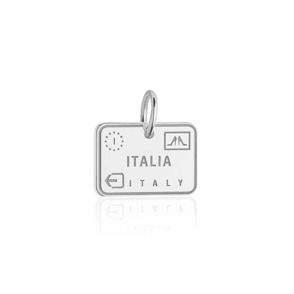Sterling Silver Italy Charm, Passport Stamp (BACK-ORDER-SHIPS MARCH) - JET SET CANDY