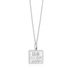 Sterling Silver Japan Charm, Passport Stamp - JET SET CANDY