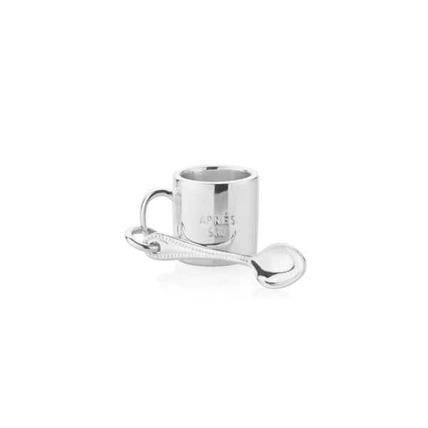 Silver Hot Chocolate Mug Charm - JET SET CANDY