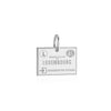 Sterling Silver Charm, Luxembourg Passport Stamp - JET SET CANDY