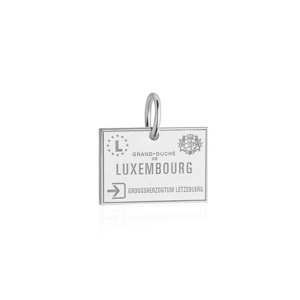Sterling Silver Charm, Luxembourg Passport Stamp (BACK ORDER-SHIPS MARCH) - JET SET CANDY