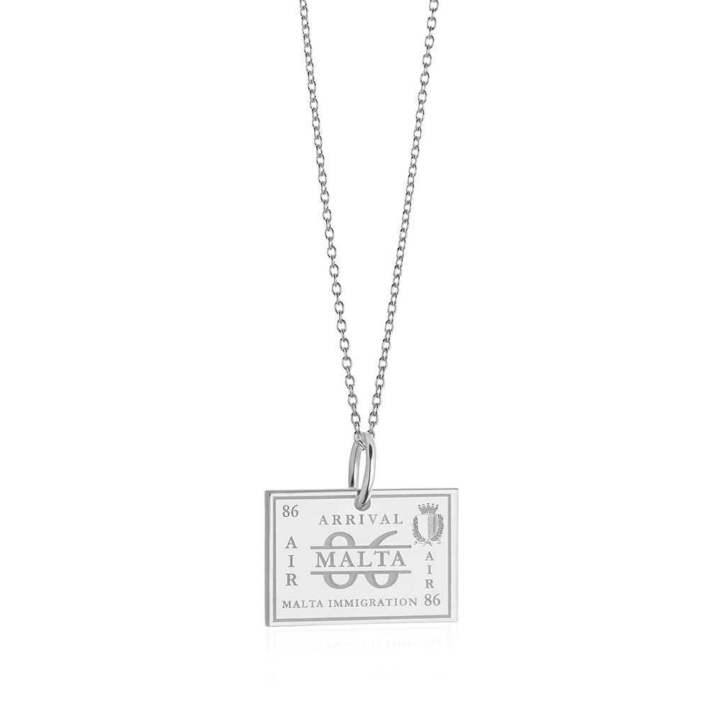 Sterling Silver Charm, Malta Passport Stamp - JET SET CANDY