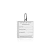 Sterling Silver Travel Charm, Nauru Passport Stamp - JET SET CANDY