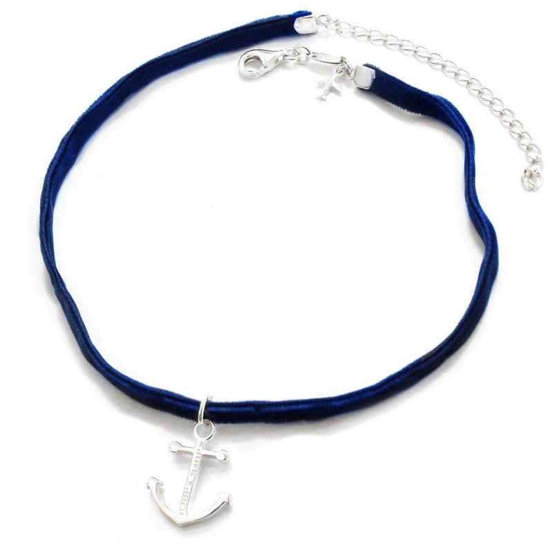 Navy Blue Choker - JET SET CANDY