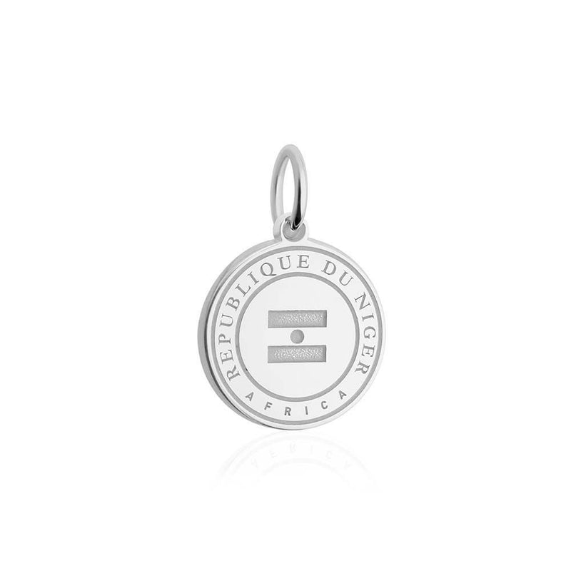 Sterling Silver Travel Charm, Niger Passport Stamp - JET SET CANDY