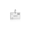 Sterling Silver Travel Charm, Norway Passport Stamp - JET SET CANDY