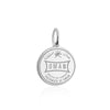 Sterling Silver Travel Charm, Oman Passport Stamp - JET SET CANDY