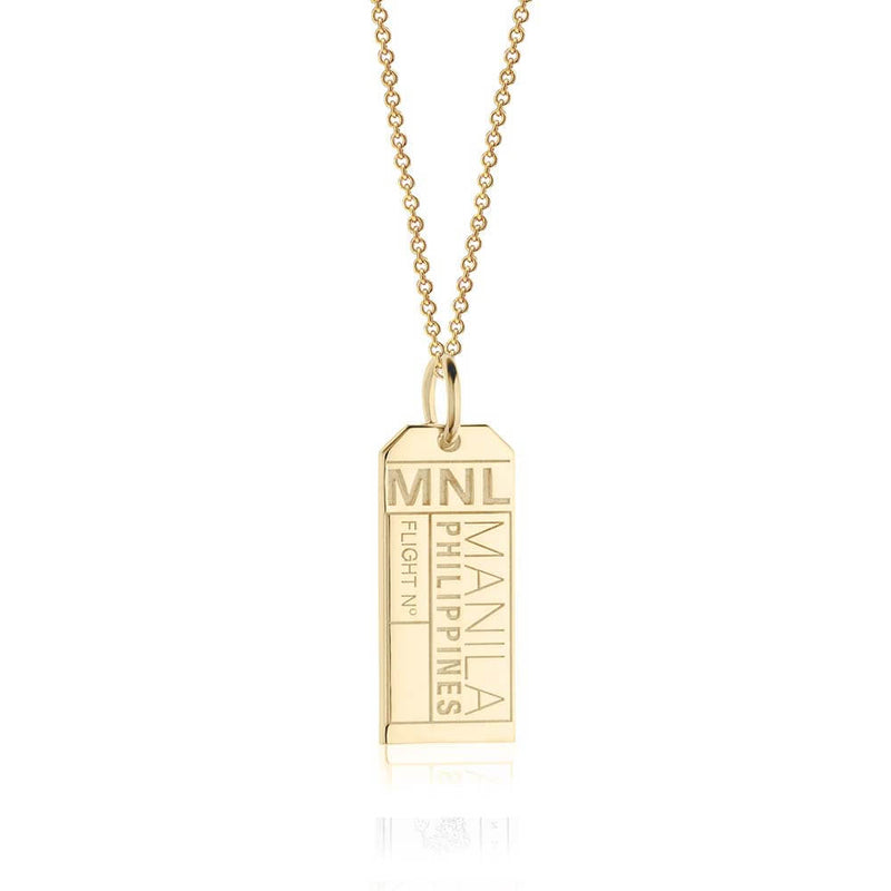 Gold Asia Charm, MNL Manila Luggage Tag - JET SET CANDY