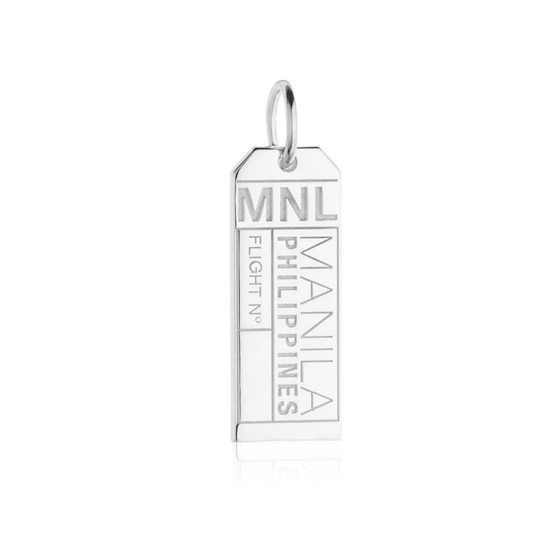 Silver Asia Charm, MNL Manila Luggage Tag - JET SET CANDY