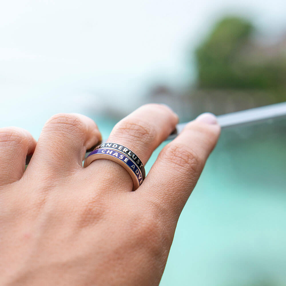 Purple Enamel Ring in Sterling Silver, Chase Adventure - JET SET CANDY