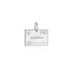 Sterling Silver Travel Charm, Romania Passport Stamp (BACK ORDER-SHIPS LATE JANUARY) - JET SET CANDY
