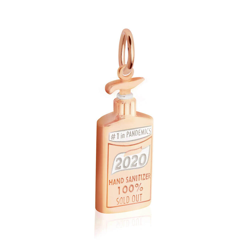 Solid Rose Gold Hand Sanitizer Charm