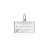 Silver Travel Charm, Saint Kitts and Nevis Passport Stamp - JET SET CANDY