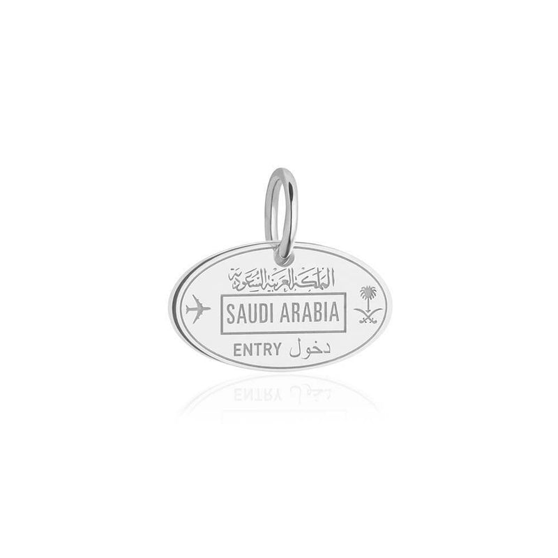 Silver Saudi Arabia Charm, Passport Stamp (SHIPS JUNE) - JET SET CANDY